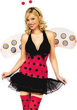Ladies Womens Fancy Dress Costumes LadyBird Bug Red Spotty Dress Full Outfit