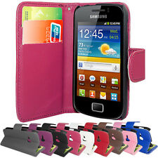 SIDE OPENING FLIP PU LEATHER WALLET CASE COVER FOR SAMSUNG GALAXY MINI 2 S6500