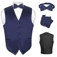 Men's Dress Vest BOWTie NAVY BLUE Bow Tie Set for Suit or Tuxedo