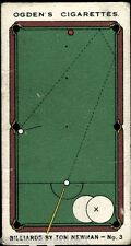 Ogdens, Billiards By Tom Newman, Snooker Trick Shots, 1928, #1 to #50