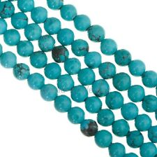 Blue Natural Howlite Turquoise Gemstone Round Loose Beads 16''  Strand 6mm