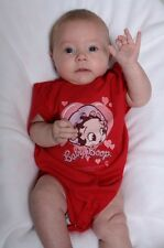Betty Boop Snap Suit, Red Hearts Betty Boop Romper, Betty Boop Baby Clothes
