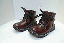 Brand New Boys' Ankle High Fashion Leather Boots With Zipper Toddlers Size 7-11