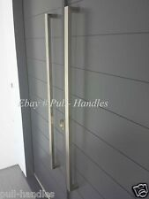 """Entry Entrance Front Door Pull Square Handle stainless steel 24"""" to 70""""inch Long"""