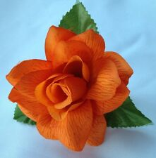 ORANGE FLOWER HAIR CLIP FOR MEXICAN FIESTA,5 DE MAYO,DAY OF THE DEAD,WEDDING