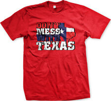 Don't Mess With Texas Texan Lone Star State Pride South Distressed Mens T-Shirt