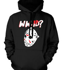 WWJD What Would Jason Voorhees Friday The 13th Classic Horror Movie Mens Hoodie