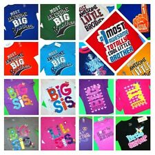 ~NEW~ Big Little Brother Sister Graphic Shirts Boys Girls ANNOUNCEMENT Gift Baby