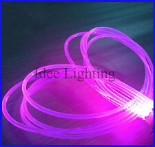 5m 2 3 4 5 6 8-14mm Water Resistant Plastic Side Light Glow Fiber Optic Cable EC