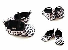 Baby Girl Infant Animal Print Leopard Dress Shoes Ballet Crib Shoes Mary Janes