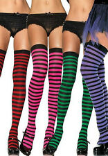 Hot Selling Sexy Christmas Striped Nylon Thigh High Stockings Hosiery