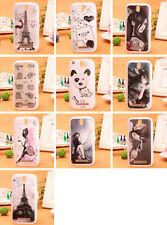 1X Cartoon Design Hard Protect Rigid Case Back Skin Cover For HTC Desire SV New