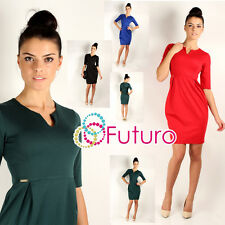 NEW ☼ Elegance Bubble Women's Dress ☼ V Neck Short Sleeve Sizes 8 -14 FA231