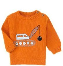 NEW nwt GYMBOREE construction zone WRECKING ball KNIT pullover SWEATER shirt TOP