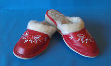 LADIES WOMEN'S GIRL !!  SLIPPERS MULES WARMED WITH 75% SHEEP WOOL