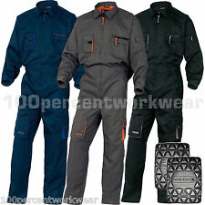 Delta Panoply Work Mens Overalls Boiler Suit Coveralls Mechanics +FREE KNEE PADS