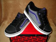 NEW VANS TRANSISTOR SKATE SHOES BLACK/ CHARCOAL/PURPLE BOYS SZ 11, 13 ,1.5, 2