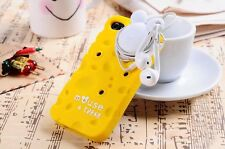 Pizu Cheese Soft Silicone Case Cover For Apple iPhone 5 5S with Mouse winder