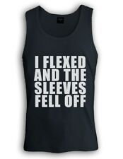 I FLEXED AND THE SLEEVES FELL OFF Singlet BODYBUILDING TANK TOP GYM FITNESS