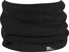 EIGHT MILES HIGH -ELASTICATED NECKWARMER / SCARF - BLACK / GREY