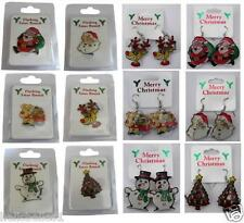 XMAS/CHRISTMAS FLASHING BROOCHES/EARRINGS IDEAL FOR PARTY'S/STOCKING FILLERS