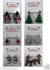 LADIES/CHILDREN'S NOVELTY XMAS EARRINGS FOR PIERCED EARS GREAT STOCKING FILLER