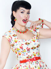 Bernie Dexter ROSE SUNDAY Malt shop Dress pinup 50's Vintage style pinup model