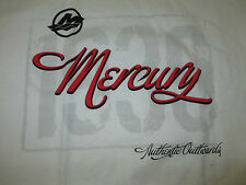 New Authentic Mercury Marine White Short Sleeve Tee Shirt Authentic Outboards