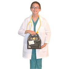 Kids Doctor Costume with REAL Scrubs, Lab Coat, Bag and Stethoscope Personalized