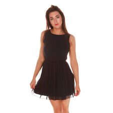 Womens Navy Bow Skater Dress by Love