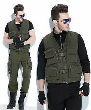 Tactical Hunting Outdoor US Army Style Photography Fishing Vest In Size-D312