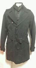 neTOMMY HILFIGER MEN'S  Double Breasted With In Side Vest Trench Coat Spy Jacket