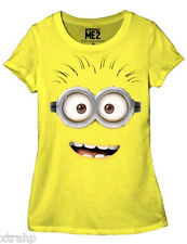 Despicable Me 2 Dave Face Minion JUNIOR Girls T-Shirt Official Licensed