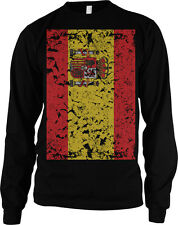 Giant Distressed Spanish Flag Spain World Cup Soccer Olympics Mens Thermal
