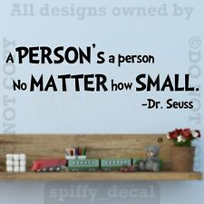 A Person No Matter How Small Quote Wall Decal Vinyl Sticker Decor DR SEUSS