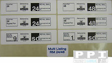 Royal Mail PPI 24 48 Signed For Special Delivery Roll Labels MultiListing 100x25