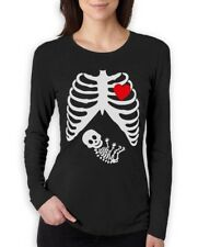 PREGNANT Skeleton XRAY BABY Boy Women Long Sleeve T-Shirt Announcement Gift Idea