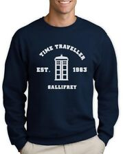 Time Traveler Sweatshirt DOCTOR GALLIFREY Who EST 1963 Dr Lord Time Phone booth