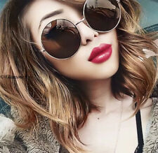 Sexy Oversized Round Silver Black Gold Trendy Hipster Goth Metal Sunglasses 033