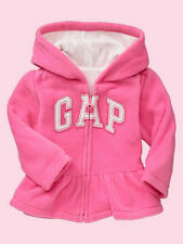 NEW GAP PINK FLEECE HOODIE SIZE 6-12-18-24M