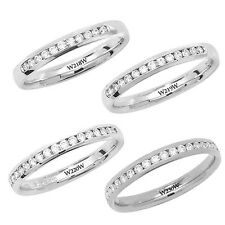 9ct White Gold Channel Wedding / Eternity Ring Diamond Set