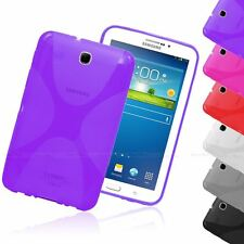 X-LINE TRANSLUCENT CLEAR TPU GEL CASE BACK COVER FOR SAMSUNG GALAXY TAB 3 7.0""