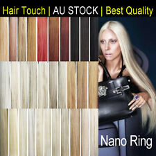 """22"""" Nano Ring Russian Virgin Remy Human Hair Extensions Stronger More Comfort"""