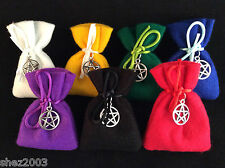 Herb Spell Charm Bag with Pentagram Charm ~ Choose from the List ~ Pagan ~ Wicca