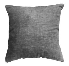 nf04a (Black)Jacquard High Quality 100% Pure Linen ECO Cushion Cover Pillow Case