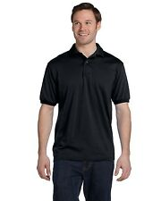 Hanes Polo Shirt Golf Men's Short Sleeve 5.5 oz 50/50 Jersey Knit 054 NEW