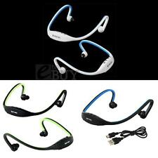 Mini Handfree Sports Stereo Headset Earphone MP3 Player Support 16GB Micro SD/TF