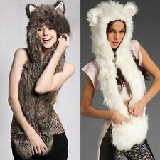 Fashion Hat Spirit Hood Scarf Gloves Ladies Girls Gift Clothes Faux Fur Clothes