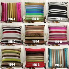 1pcs Fashion Colorful Stripes Soft Cushion Covers Throw Pillow Cases Decorative