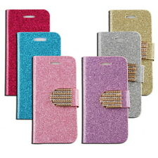 Hot Luxury Glitter Bling Leather Flip Wallet Plating Cover Case For iPhone 5 5S